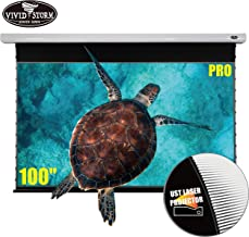 VIVIDSTORM Movie Wrinkle-Free Cinema Office/Home 8K/3D/UHD Motorized Drop Down Projector Screen 100Inch, Home Theater White housing UST ALR Screen Material VMSLUST100H