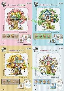 Four Seasons Tree House - Sodastitch Cross Stitch 4 Patterns