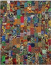 FashionShopmart Twin Kantha Quilt, Ethic Hippie Decorative Cotton Patch Work Throw Blanket, Handmade Ralli Quilt, Bedsprea...