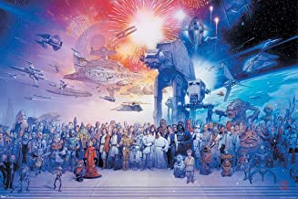 """Star Wars Poster: 'Galaxy Cast Portrait' Large 24""""×36"""" Size. The Perfect Poster Gift. Toobi Poster"""