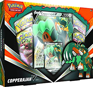 Pokemon TCG: Copperajah V Box | 1 Foil Cards | 4 Booster Packs