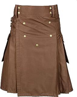 Chocolate Brown New Modern Utility Kilt