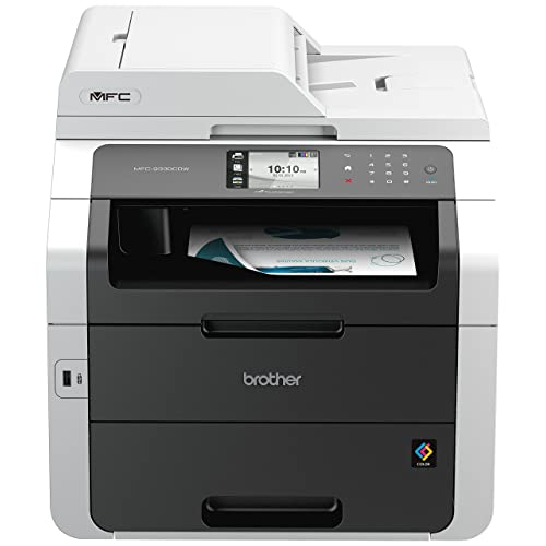 Brother MFC-9330CDW Imprimante Multifonction 4 en 1 LED | Couleur | A4 | PCL6| Ecran Tactile Couleur |Impression Recto-Verso, Numérisation, Copie, Télécopie |Ethernet et Wi-Fi