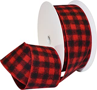 Best black plaid wired ribbon Reviews