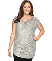 Calvin Klein Plus - Plus Size Sleeveless Top w/ Angle Bottom