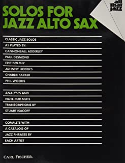 Carl Fischer Solos for Jazz Alto Sax