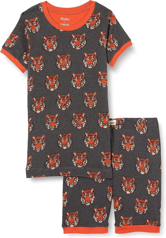 Hatley Boys' Organic Cotton Short Sleeve Pyjama Set