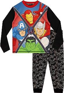 Marvel–Conjunto de pijama para niño, diseño de Los Vengadores: Iron Man, Capitán Am...