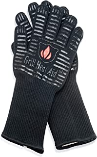 Extreme Heat Resistant Grill/BBQ Gloves | Premium Insulated Durable Fireproof Kitchen Mitts Designed for Cooking, Grilling, Frying, Baking | Indoor/Outdoor Accessories for Men & Women