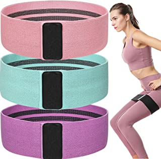 Aoboo Resistance Bands Set for Legs and Butt Fabric Resistance Loop Exercise Bands Non Slip Elastic Booty Bands Anti Slip ...