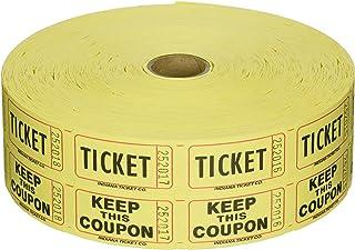 Raffle Tickets 2000 per Roll 50/50: Yellow