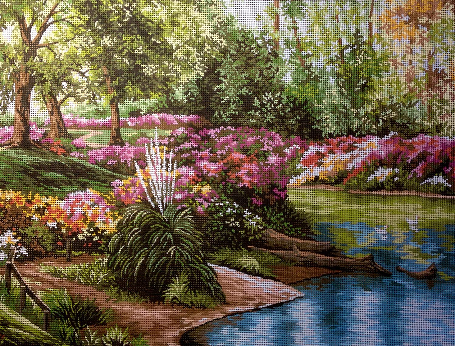 hudema's Max 50% OFF Needlepoint Kit The Pond Manufacturer OFFicial shop Printed 15.7