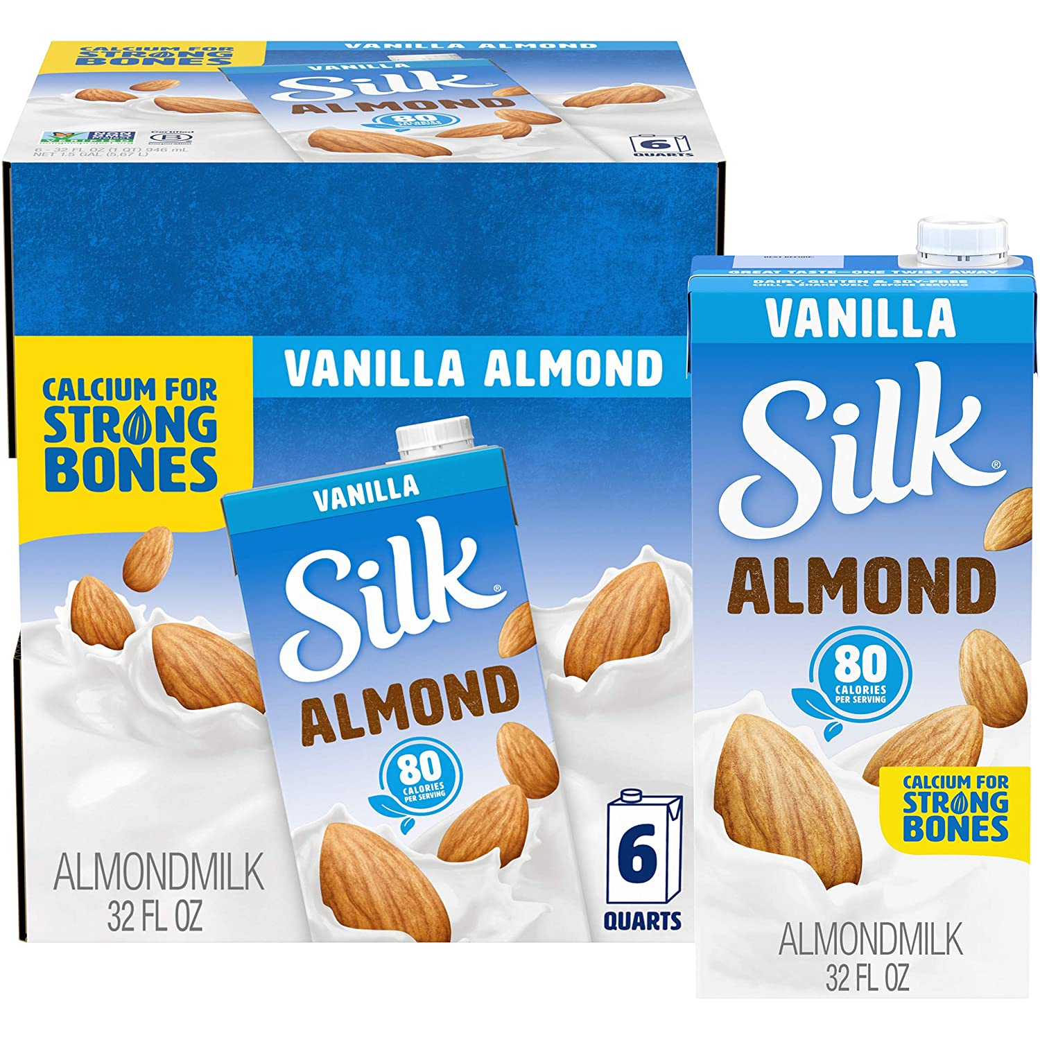 Silk Shelf-Stable Almond Max 45% OFF Milk Vanilla Non-G Vegan Dairy-Free Sales of SALE items from new works