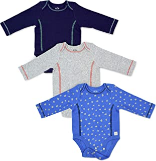Baby 3-Pack Long-Sleeve Grow & Fit Bodysuits - Unisex, Girls, Boys