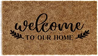 Barnyard Designs 'Welcome to Our Home' Doormat, Indoor/Outdoor Non-Slip Rug, Front Door Welcome Mat for Outside Porch Entr...