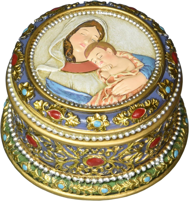 Madonna and Child Rosary Box 3.5