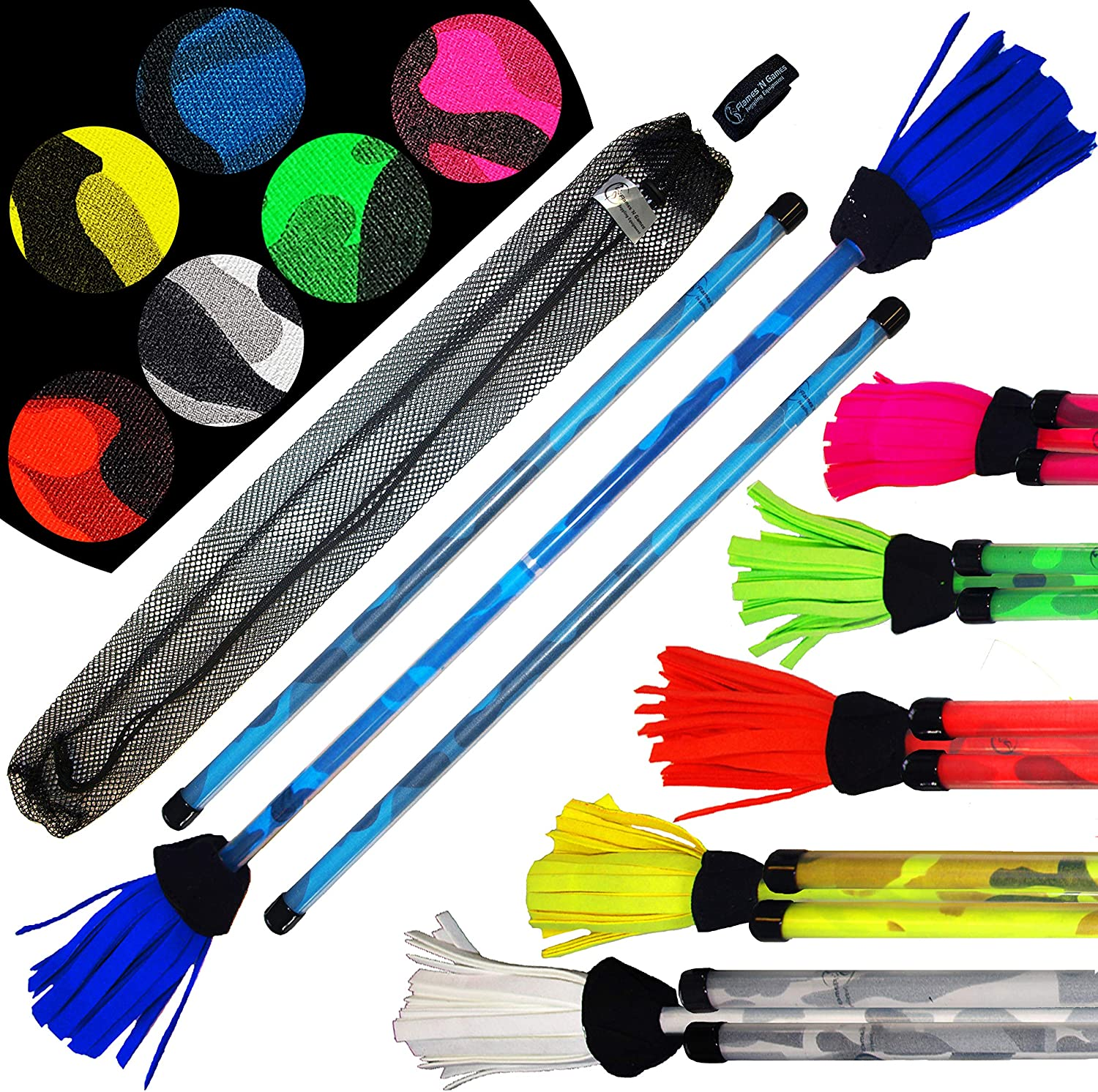 Pro Commando Sales Flower Stick Set 6 - Core with Fiber 2021 spring and summer new Colours Grip