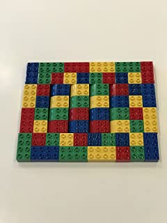 Duplo/Mega 60pc Block Set-PACKAGED AND SHIPPED IN A CLEAR POLY BAG