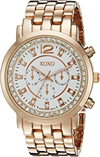 XOXO Womens Quartz Watch, Analog Display and Gold Plated Strap XO5821
