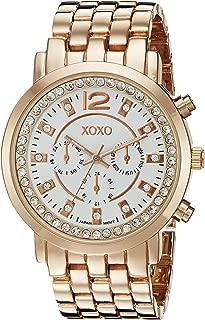 XOXO Womens Quartz Watch, Analog Display and Gold Plated Strap XO5821