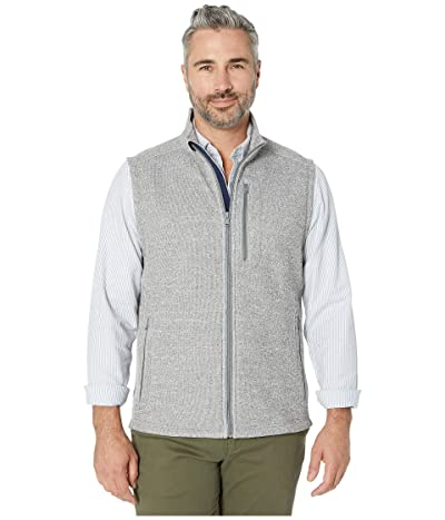 Vineyard Vines Mountain Sweater Fleece Vest (Gray Heather) Men