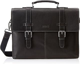 "Kenneth Cole Reaction Colombian Leather 16"" Laptop Business Portfolio, Black"