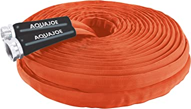 Aqua Joe AJFJH75-34-CTR Flexible Kink-Free FiberJacket Contractor-Grade Garden Hose, 75-Foot x 3/4-Inch Max Flow, RV and Camper