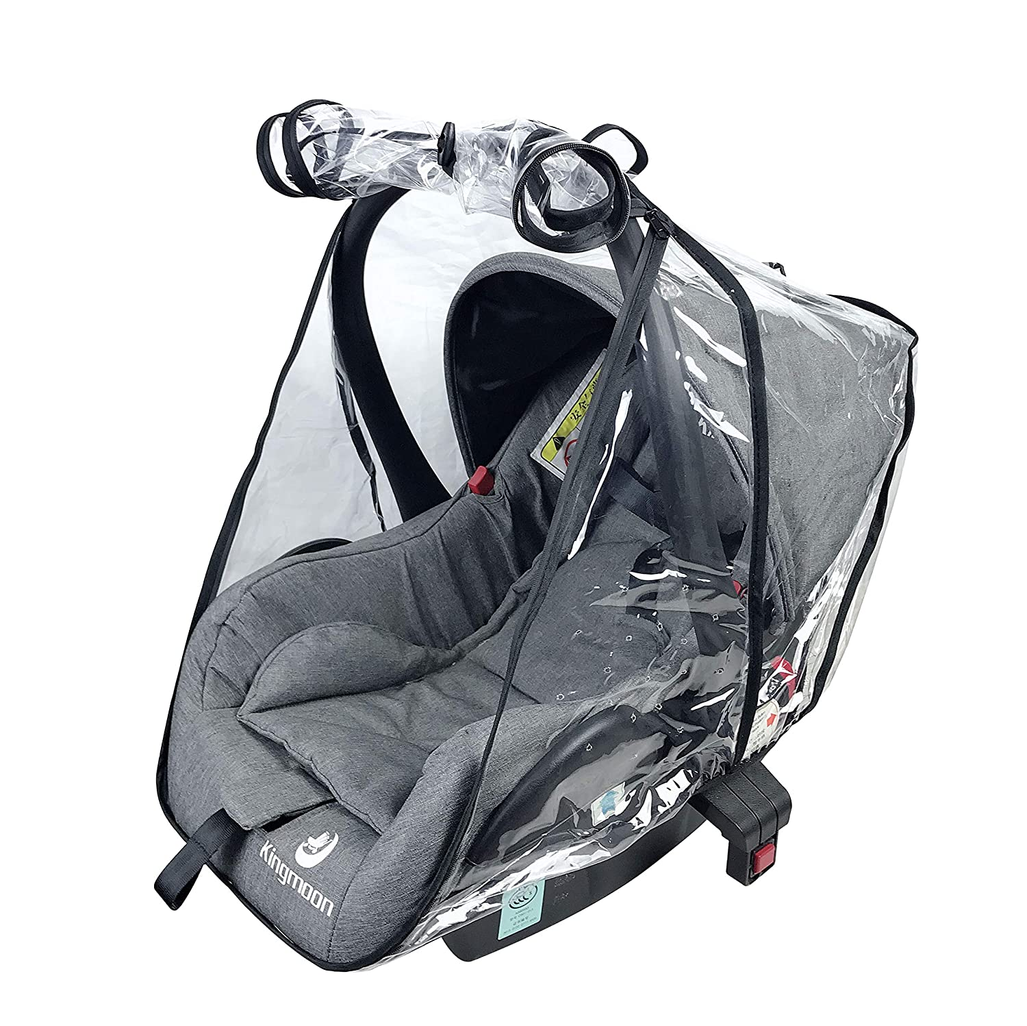 Baby Car Seat Rain Cover Universal Weather Shield Waterproof,Easy Access Zipper,Side Ventilation,EVA Material,Newborn Infant Child Travel Accessories