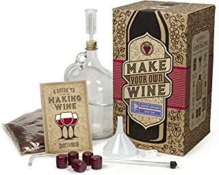 Craft A Brew Cabernet Sauvignon Making Home Kit – Easy Brew Beginners with Ingredients and Supplies – Ultimate Wine Brewer Experience, Clear