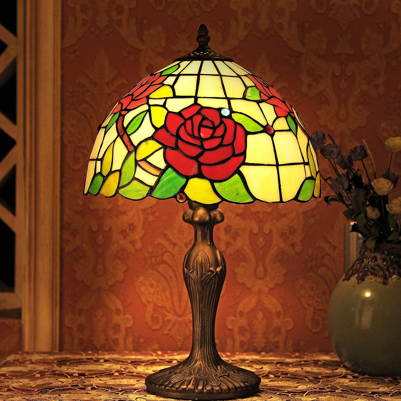 12-Inch Idylle Buntglas Rosan-Serie Tischlampe Schlafzimmerlampe Schlafzimmerlampe Schlafzimmerlampe Leselicht B00X6PFF9W | Bunt,  b9e33e