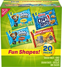 Nabisco Fun Shapes Variety Pack Barnum's Animal Crackers, Teddy Grahams and CHIPS AHOY! Mini, Halloween Treats, 20 - 1 oz ...