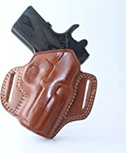 Premium The Ultimate Leather OWB Pancake Holster Open Top fits, Colt 380 Mustang Pocketlite 2.75''BBL, Right Hand Draw, Brown Color #1048#
