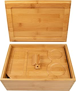 Wooden Stash Box with Rolling Tray - Stash Box Rolling Tray - Stash Boxes - Stash Box with Rolling Tray lid (Natural)