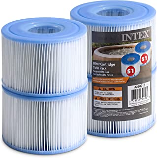 Intex Spa Filter Cartridges- Intex S1 Twin Pack For Intex Spa Filter Pumps set of (4) - Bundled with (2) Oil Absorbing Spo...