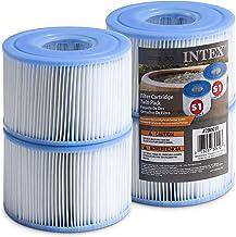Intex Spa Filter Cartridges - Intex S1 Twin Pack For Intex Spa Filter Pumps set of 4 - Bundled with (2) SEWANTA