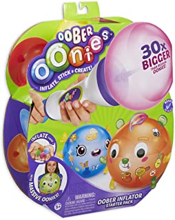Oonies Oober Oober Inflator Starter Pack with Stick 'n' Style Accessories. Easily inflate Oober to 30 Times The Size of Regular