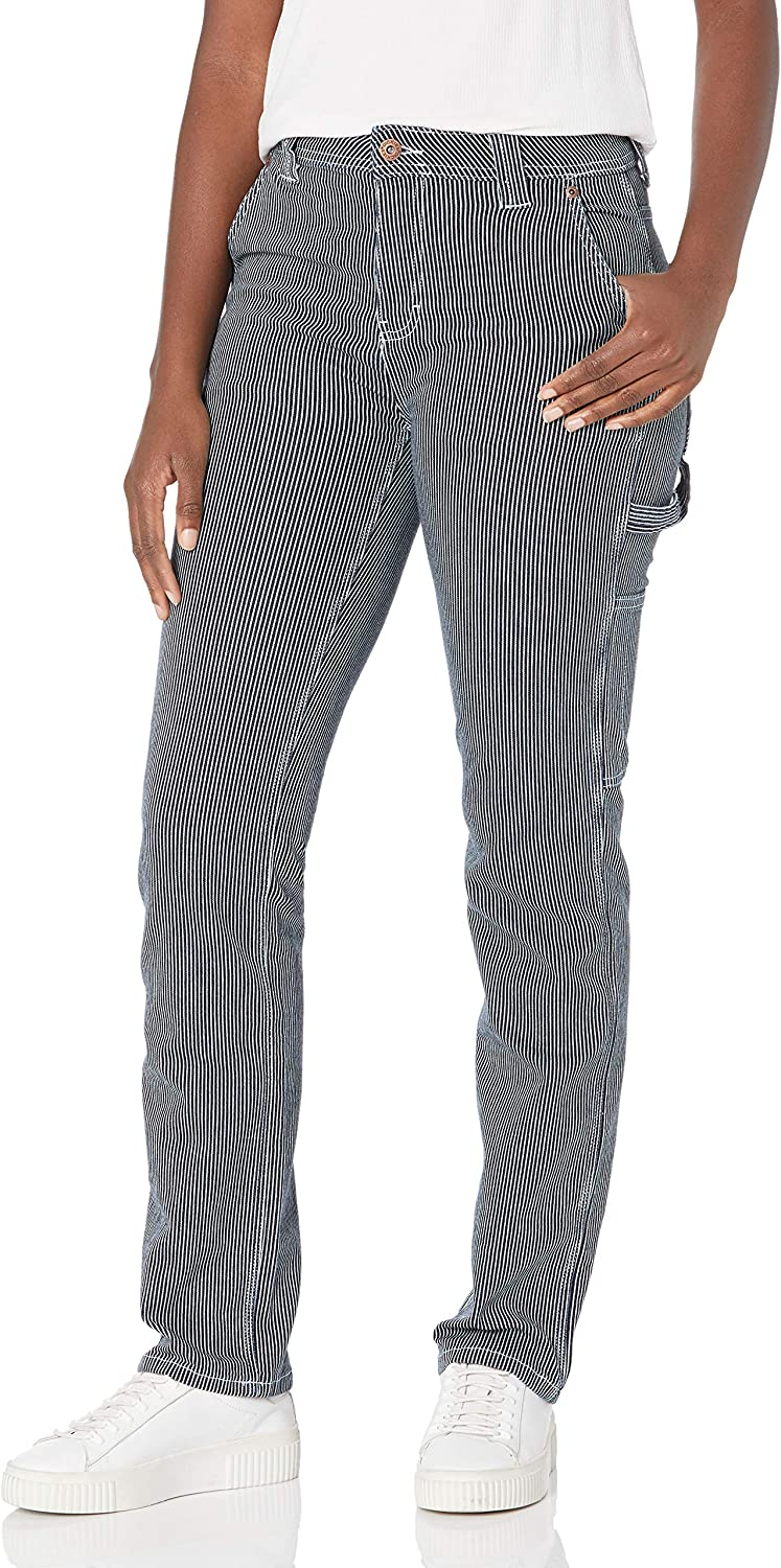 Dickies Women's Relaxed Straight Carpenter Hickory Stripe Pant: Clothing, Shoes & Jewelry