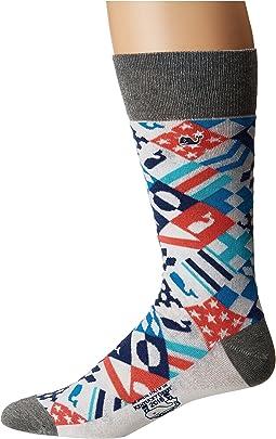 Kentucky Derby Patchwork Socks