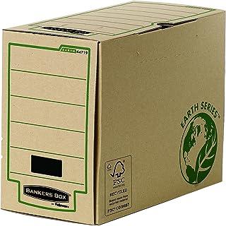 Fellowes 4471901 Boîte d'archives Banker Box Earth Series format folio montage manuel - Dos de 15cm Marron, Paquet de 20 P...