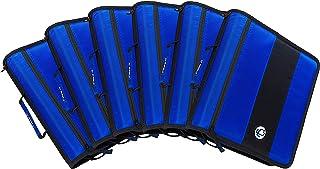 Case-It 2 بوصة حلقة سَحَّاب Binder، أزرق - جراب من 6