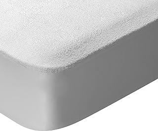 Pikolin Home - Protector de colchón rizo, 100% algodón, impermeable y transpirable, 135x190/200cm-Cama 135(Todas las medidas)