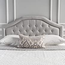 Christopher Knight Home Killian Light Grey Fabric Queen/Full Headboard