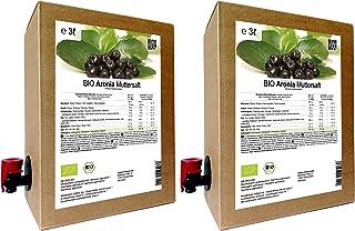 BIO Aronia Muttersaft - 100% Direktsaft 6 Liter  2 x 3 Liter
