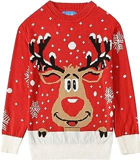 Big Boys' Funny Crewneck Pullover Ugly Christmas Sweater