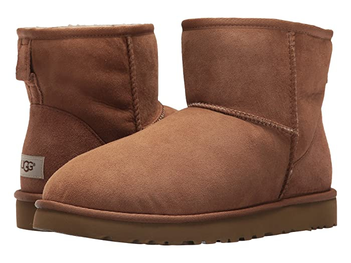 UGG  Classic Mini (Chestnut Twinface) Mens Boots