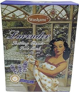 Washami Lavender Soothing Repair Face Mask, 28gX10PCS