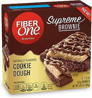 Fiber One Supreme Brownie Cookie Dough Brownies 5-1.13 oz. (Pack of 8)