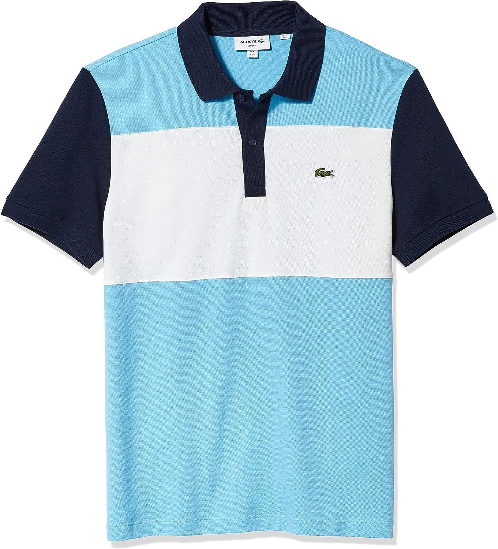 Lacoste Men's Short Sleeve Slim Fit Color Block Polo Shirt