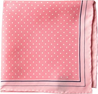 Amazon Brand - BUTTONED DOWN Men's Classic Silk Hand Rolled Pocket Square