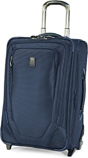 Travelpro Crew 10-Softside Expandable Rollaboard Luggage, Navy, Carry-On 22-Inch